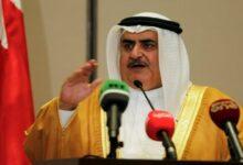 صورة وزير الخارجية البحريني: يحق لأي دولة ومنها إسرائيل أن تدافع عن نفسها