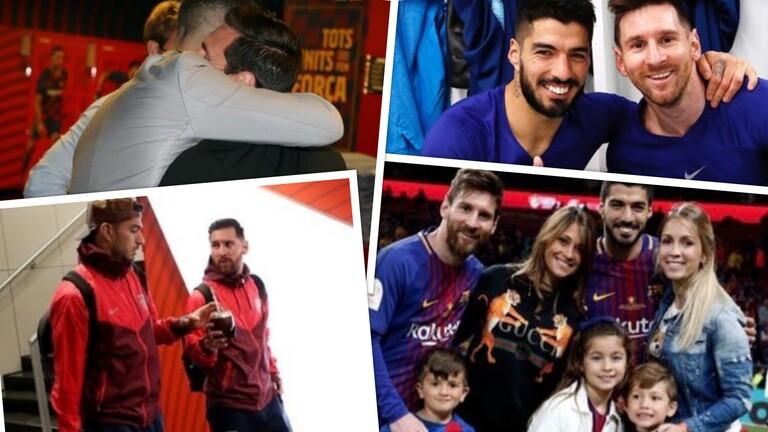 """صورة ميسي يهاجم إدارة برشلونة في رسالة مؤثرة لصديقه """"المطرود"""" سواريز"""