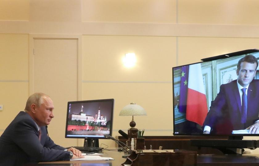 صورة تسريب تفاصيل مكالمة بين بوتين وماكرون يغضب فرنسا.. باريس تفتح تحقيقاً في الحادثة