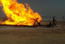 صورة غارات مجهولة تستهدف حراقات النفط السوري المسروق على الحدود مع تركيا