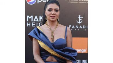 """صورة بالصور: رانيا يوسف.. جرأة جديدة بـ""""هاف ستومك"""""""